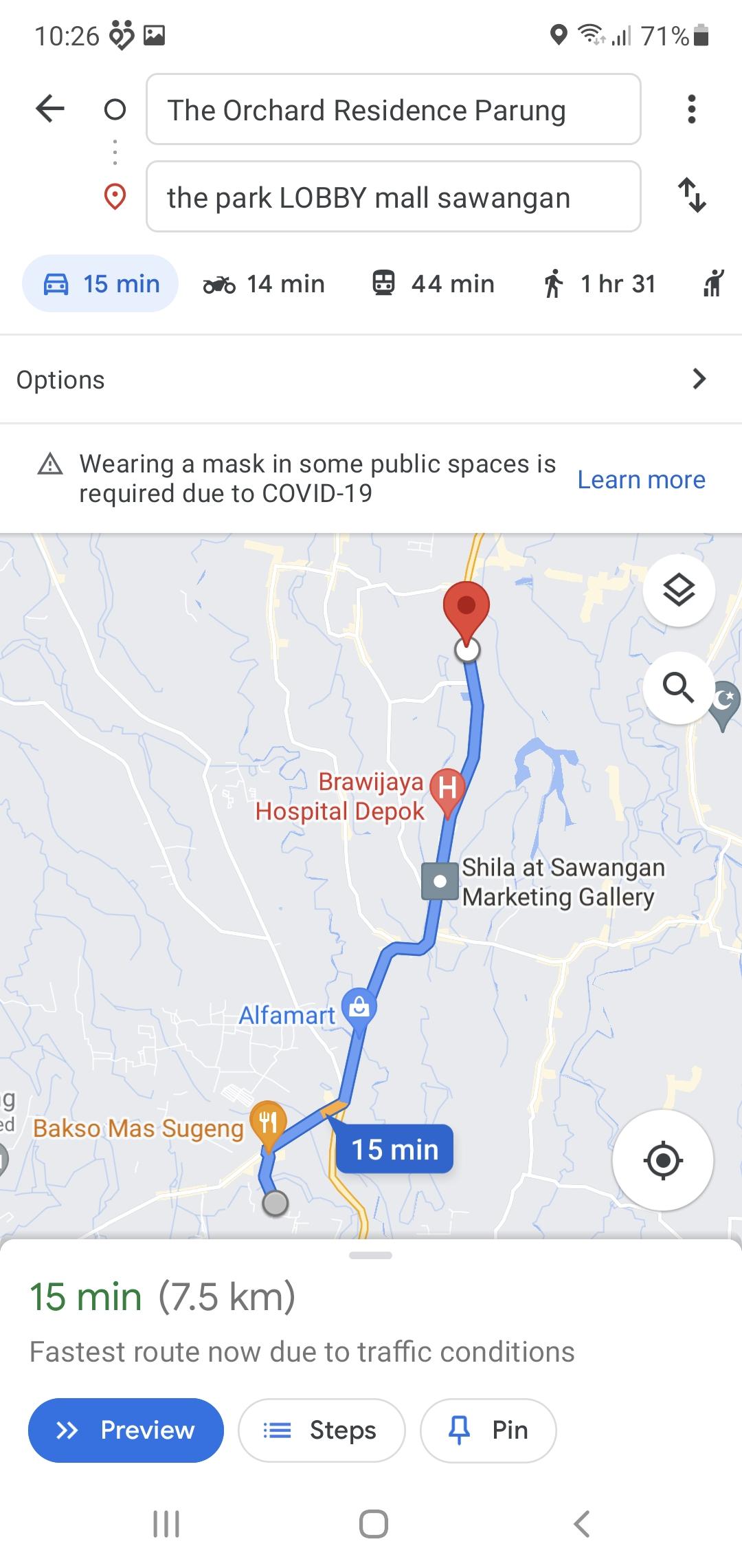 the park mall sawangan